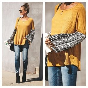 Tops - ▪️🆕HP/Ojai Thermal in Mustard w/Bell Sleeves